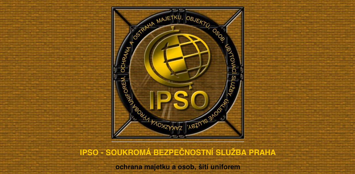 IPSO – soukromá bezpečnostní služba Praha